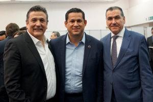 Enrique González Muñoz, Diego Sinhue Rodríguez e Ismael Plascencia.